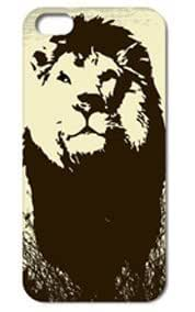 Fashion The Lion Pattern Protective Hard Case Cover For iPhone 5 5S #046
