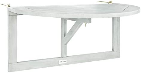 Safavieh PAT7045B Outdoor Collection Owens Grey Wash Balcony Hanging Half Table