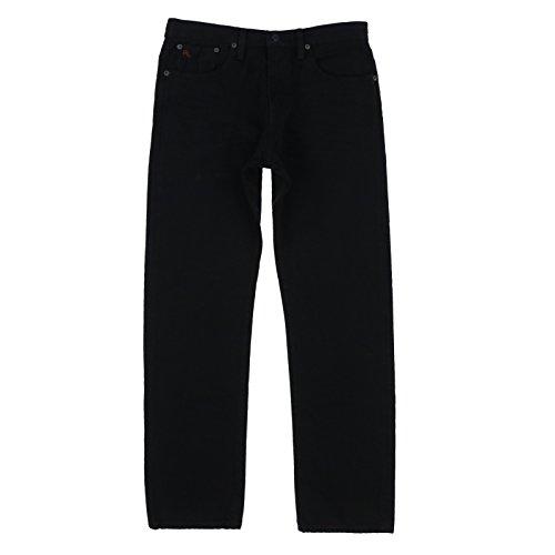 Polo Ralph Lauren Mens Hampton Straight Fit Jeans (30x30, Black)