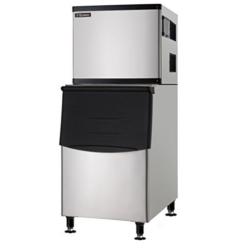 Full Cube High Capacity Commercial Ice Machine with Storage Bin - 500 lb. - Air Cooled