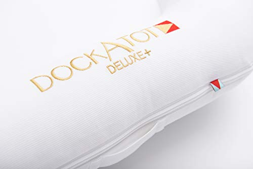 DockATot Deluxe+ Dock (Pristine White) - The All in One Baby Lounger - Perfect for Co Sleeping - Suitable from 0-8 Months (Pristine White) by DockATot (Image #4)
