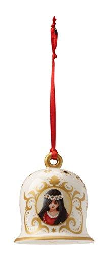 Villeroy & Boch 1486266853 Annual Christmas Edition Campana 2015 Biancaneve, Oro, 7 cm addobbi; decorazioni