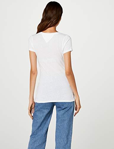 White bright Jeans Tommy Triblend shirt T Blanc 113 Femme a7PqYBqd0