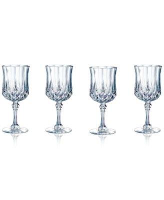 - Longchamp Set of 4 5-.5 Ounce Wine Glasses