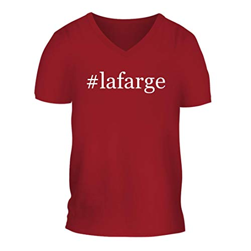 shtag Men's Short Sleeve V-Neck T-Shirt Shirt, Red, Large ()