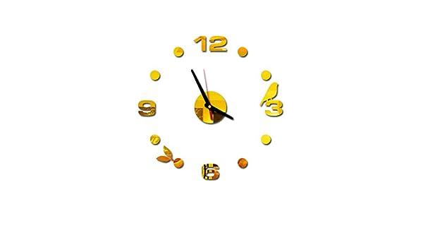 Webla - Reloj de Pared Europeo acrílico, Personalizable ...