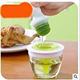 Huyenkute BBQ Silicone Brush Oil Bottle Kit Oil Bottle Kitchenware Basting Brushes Tools