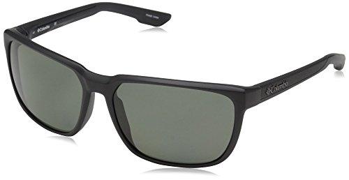 Columbia Men's Trail Warrior Polarized Rectangular Sunglasses, Matte Black, 60 - Polarized Columbia Sunglasses