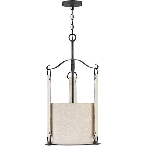 (Pendants 3 Light Fixtures with Brushed Graphite Finish Steel Material Candelabra Bulb 14