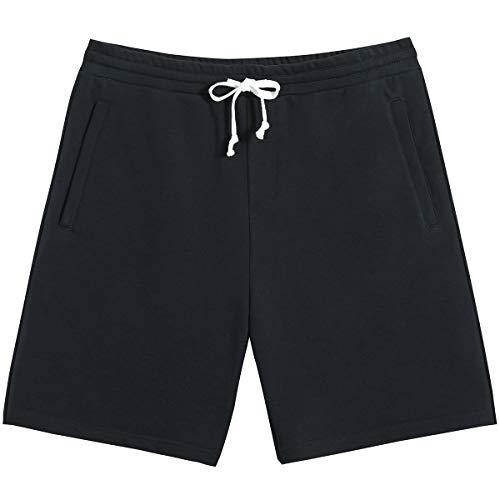 Mens Athletic Gym Shorts with Zipper Pocket 7″ Casual Pajama Sweat Shorts Jogger Workout Sport Short Pants