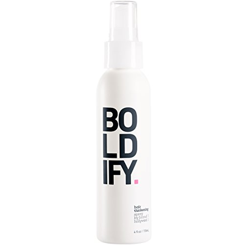 BOLDIFY Hair Thickening Spray - Get Thicker Hair in 60 Seconds - Stylist Recommended Hair Thickening Products for Women and Men - Hair Volumizer + Texturizing Spray for Hair Volume and Root Lift -4 oz by Boldify