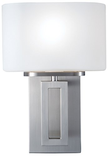 NORWELL 5164-BN-MO Hamilton Sconce, Brush Nickel (Norwell Nickel Sconce)