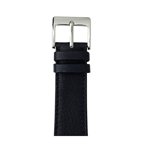 Roobaya | Premium Sauvage Leather Apple Watch Band in Dark Blue | Includes Adapters matching the Color of the Apple Watch, Case Color:Stainless Steel, Size:38 mm by Roobaya
