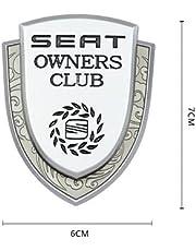 Auto 3D Uiterlijk Sticker FR Metalen Seat Autoraam Embleem 3D Badge Sticker Auto Decoratie Decal Styling Logo Voor Ibiza Leon Altea IBE Toledo Exeo IBL IBX Auto 3D Uiterlijk Sticker