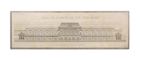 96'' Gare De Chemin De Fer D'Orleans Wooden Framed Giclee Print Stretched Canvas Wall Art by Diva At Home (Image #1)