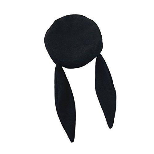 Hiver Chapeau Oreille Avec Noir Lapin Drap Acvip Femme Béret qXaxwnO0