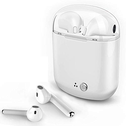 Wireless Bluetooth Earbuds, Mini Waterproof Headphones Hands-Free Calling Earphones Sport Driving Headsets 5 Hour Playtime with Mic and Charging Box for Smart Phones and Other Smart Devices