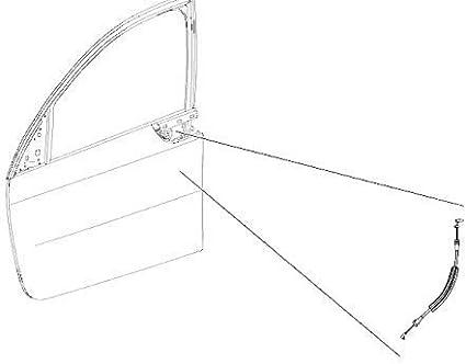 Cavo per Smart Forfour 454 porta anteriore esterna maniglia serratura bowden CELINDA