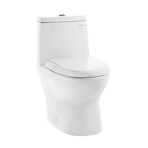 Swiss Madison SM-1T112 Ivy One Piece Elongated Toilet Dual Tornado Flush 0.8/1.28 GPF (Soft Closing  Seat (One Piece Elongated Toilet)