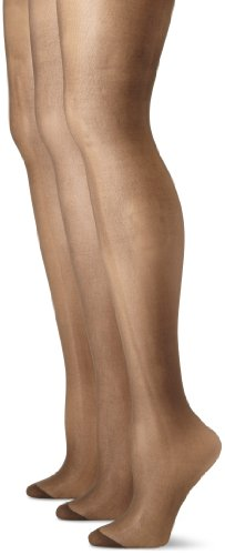 Pretty Polly Women's Plus-Size Curves Ladder Resist Tights, Black, X-Large