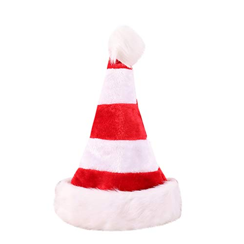 Athli Unisex Christmas Decorations High-Grade Double Plush Christmas Personality Hat Jewelry Gift Multi-Color (Red) ()
