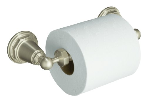 KOHLER K-13114-BN Pinstripe Toilet Tissue Holder, Vibrant Brushed Nickel by Kohler