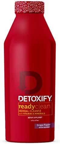 Detoxify Ready Clean Herbal Cleanse – Grape Flavor– 16 oz   Professionally Formulated Herbal Detox Drink   Enhanced with Milk Thistle Seed Extract & Burdock Root Extract