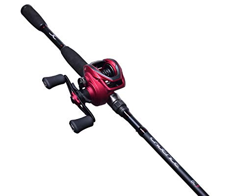 Cadence BC5 Baitcasting Combo, Lightweight 24 Ton Graphite Baitcaster Rod and Reel Combo, 7ft 2 Piece Split Design, 20 lbs Carbon Fiber Drag Reel & Rod Baitcasting Fishing Combo