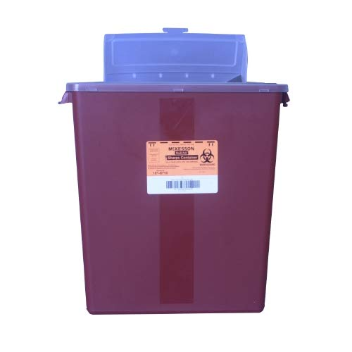 McKesson Multi Purpose Sharps Container Medi-Pak 2-Piece 3 Gallon