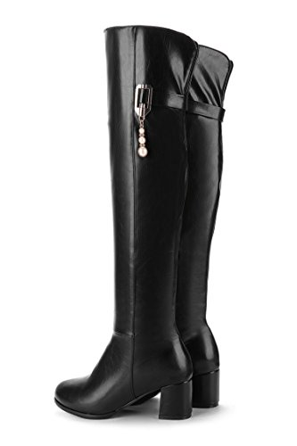 botas la QIN mujer del Black de zapatosrodilla alto largas por encima Tosca tacón amp;X La qqRFvxTg7S