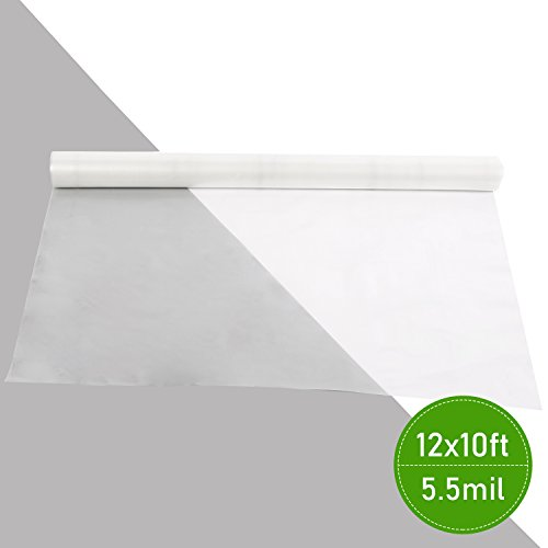 Agfabric 5.5Mil Plastic Covering Clear Polyethylene Greenhouse Film UV Resistant for Grow Tunnel and Garden Hoop, Plant Cover&Frost Blanket for Season Extension, 12x10ft by Agfabric (Image #3)