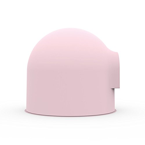 Pidan Studio Snow House Igloo Covered Cat Litter Box Kit with Scoop Large, Pink