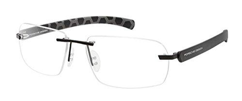 Men Eyeglasses Porsche Design Frame P8202 58 mm A B C D Rimless Black Red Grey Gun Gold (B/Black S1, - Frames Porsche Eyeglasses