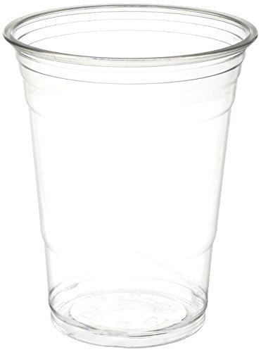 16 oz Plastic Clear Drink PET Cups, 100 Count