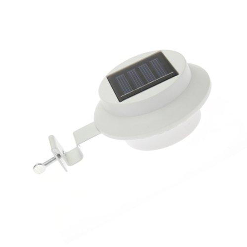 Vktech 3 LED solarbetrieben, Gartenzaun/Regenrinne, wasserdichter Schalter
