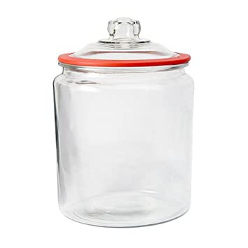 Ordinaire Anchor Hocking Heritage Hill Glass 2 Gallon Storage Jar With Red Silicone  Gasket