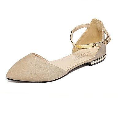 Cómodo y elegante soporte de zapatos de las mujeres pisos caída comodidad ante Casual negro Beige negro