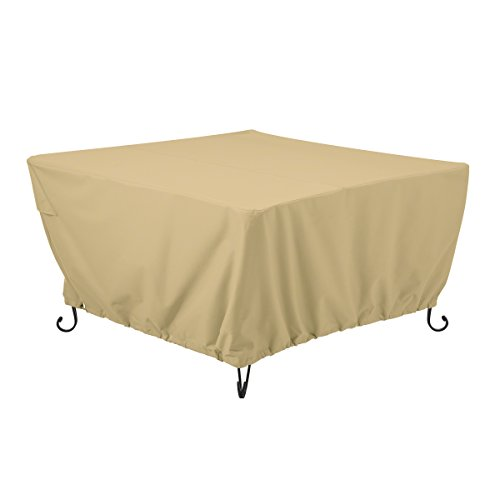 Classic Accessories Terrazzo Square Outdoor Patio Fire Pit or Table Cover, 42 Inch by Classic Accessories