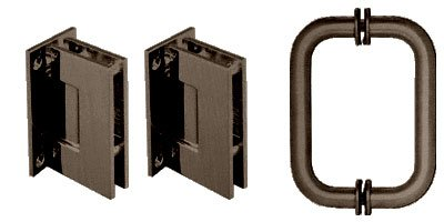 Crl Shower Door Hinge (CRL Oil Rubbed Bronze Geneva Shower Pull and Hinge Set)