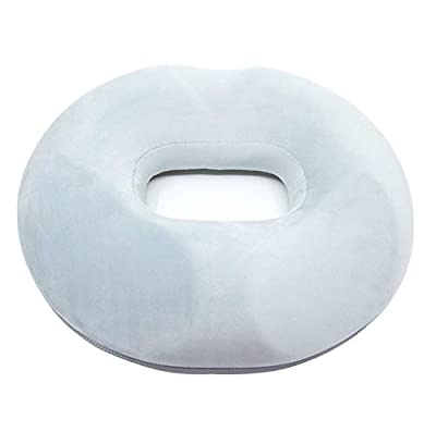 KarePro Premium Comfort Donut Seat Cushion/Pain Relief Orthopaedic Memory PU Foam Cushion/Non Deformable High Density/Perfect for Hemorrhoid Treatment,Prostate,Bed Sores,Pregnancy,Coccyx Tailbone Pain