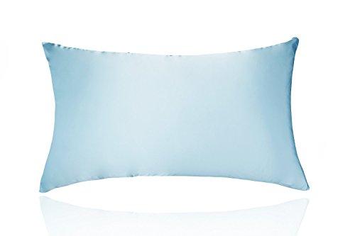 LULUSILK Pillowcase Silk Satin Pillow Cover Standard Size fo