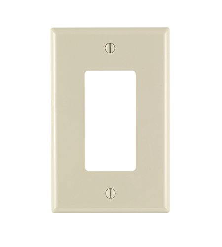 - Leviton PJ26-TM 1-Gang Decora/GFCI Wallplate, Midway Size, 10-Pack, Light Almond