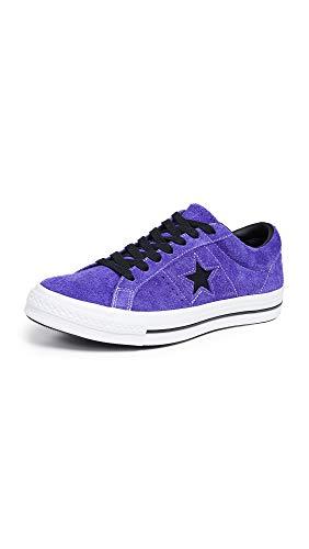 Converse Men's Dark Star Vintage Suede Oxford Sneakers, Court Purple/Black, 11 M US