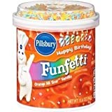 Pillsbury, Funfetti, Orange All-Star Vanilla Frosting, 15.6oz Tub (Pack of 3)