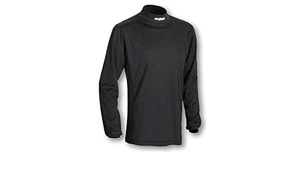 Black 3X-Large Cortech Journey Coolmax Mock Long-Sleeve Crew Neck Shirt Base Layer Mens Undergarment Snow Body Armor
