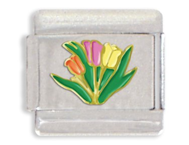 - Tulip Italian Charm Bracelet Link