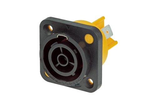 - Neutrik NAC3FPX Powecon Tru1 Appliance Outlet Connector 1/4-Inch Flat Tab Terminals