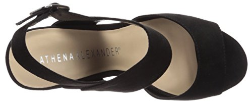 Athena Alexander Womens Slayte Sleehak Sandaal Zwart / Suède