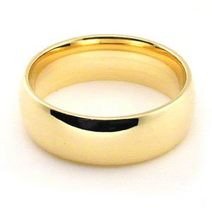 Men S Women S 18k Yellow Gold Plain Classic 6mm Comfort Fit