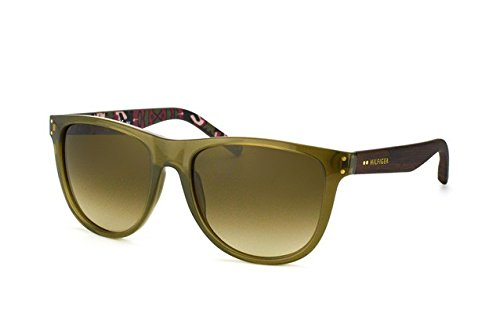 Tommy Hilfiger 1112/S Womens Sunglasses - Green/Brown Gradient / One - 1112 Sunglasses